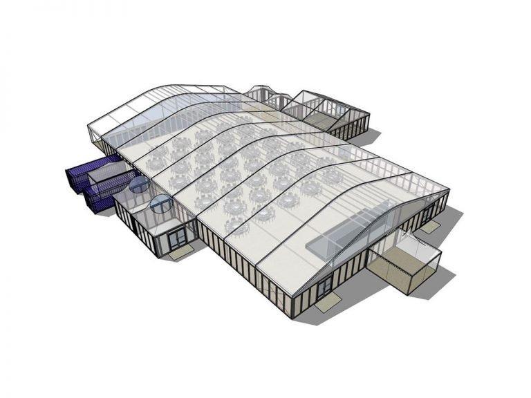 Meinl's Rösthalle Plan Galabestuhlung-3D