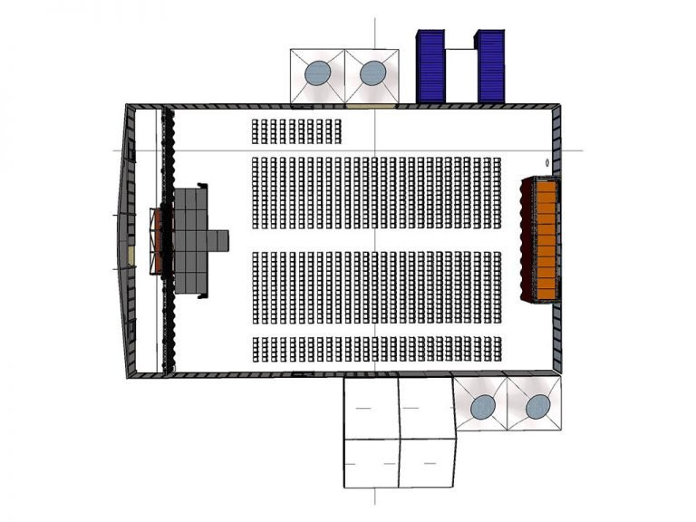 Meinl's Rösthalle Plan Kinobestuhlung